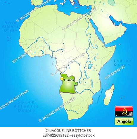 Angola Map World Stock Photos And Images Agefotostock