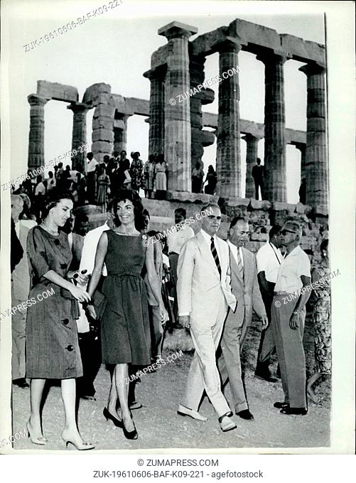 Jun. 06, 1961 - Mrs. Jacqueline Kennedy on tour of the Greek Islands ?¢'Ǩ'Äú Mrs. Jacqueline Kennedy, wife of the United States President
