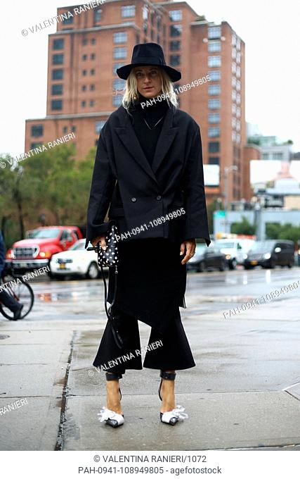 Stylist Ada Kokosar posing on the street outside the Zimmermann show during New York Fashion Week - Sept 10, 2018 - Photo: Runway Manhattan ***For Editorial Use...