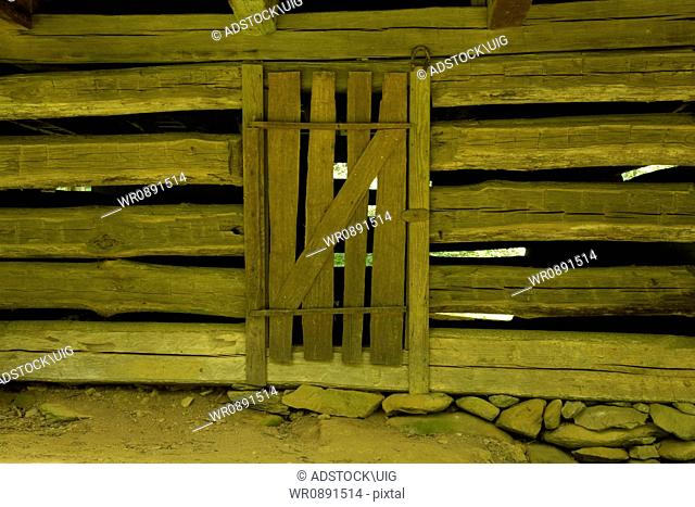 Crib Door on Barn, Great Smoky Mtns Nat. Park, TN