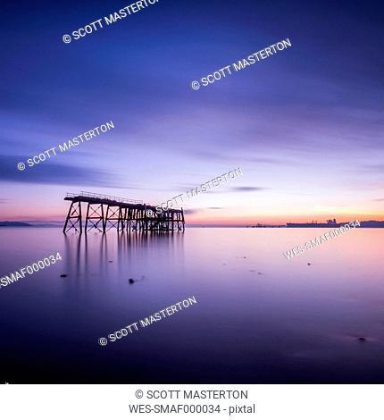 United Kingdom, Scotland, View of Firth of Forth