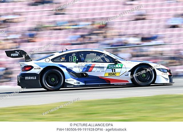 06 May 2018, Germany, Hockenheim: Deutsche Tourenwagen-Masters (DTM) at the Hockenheimring, free practice. Marco Wittmann of Germany from BMW Team RMG in a BMW...