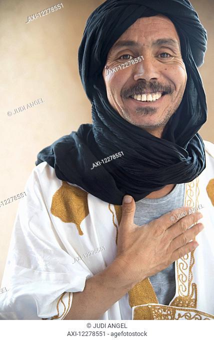 Portrait of a desert guide; Merzouga, Morocco