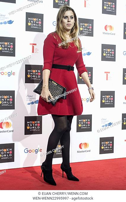 Celebrities attends Women in the World Summit in Sloane Square, London. Featuring: Princess Beatrice Where: London, United Kingdom When: 08 Oct 2015 Credit:...