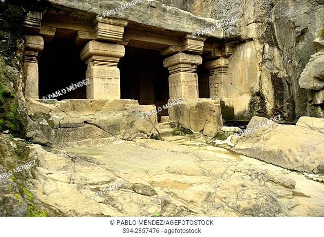 Temple in a cave of Jain group, Ellorca caves, Aurangabad, Maharastra, India