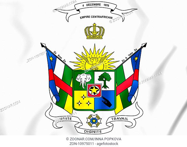 Central African Republic coat of arms (1976-1979). 3D Illustration