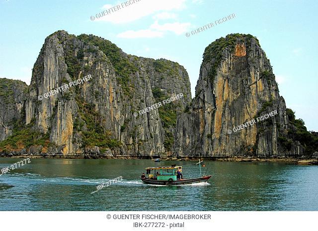 Monolithic limestone islands of Halong Bay, Vietnam