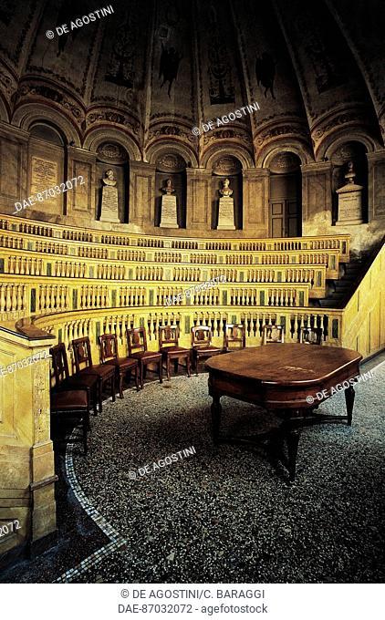 Anatomical theatre or Scarpa Hall, 1785, architect Leopoldo Pollack (1751-1806), University of Pavia, Lombardy, Italy