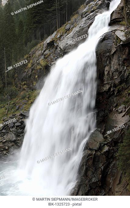 Krimmler Wasserfaelle waterfalls, Nationalpark Hohe Tauern national park, Krimml, Pinzgau, Salzburger Land county, Salzburg, Austria, Europe