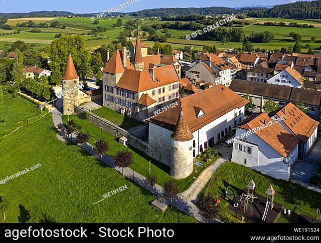 Avenches Castle, Chateau dâ. . Avenches, Avenches, Canton of Vaud, Switzerland