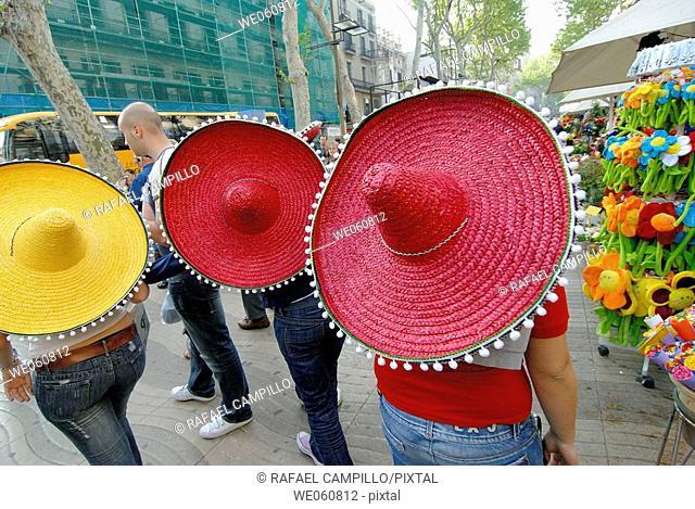 Las Ramblas. Barcelona. Catalonia. Spain
