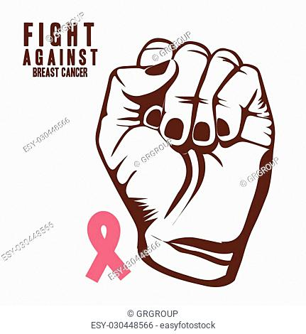 Breast cancer design over white background, vector illustration