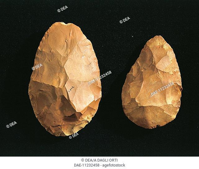Prehistory, Kenya, Paleolithic. Bifaces.  Verona, Museo Di Storia Naturale (Science Museum)