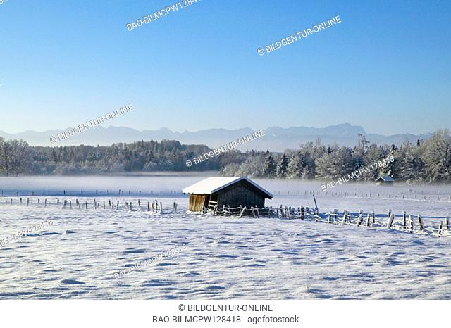 Winterlandscape covered with snow