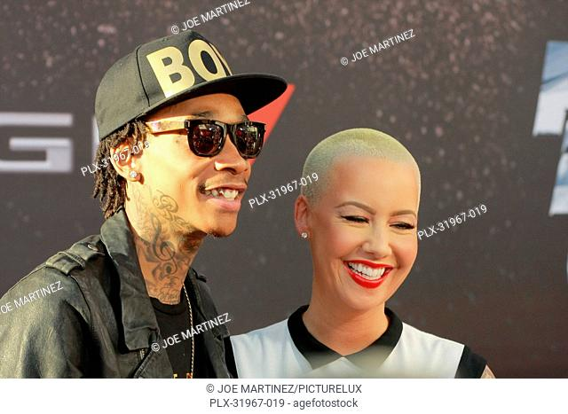 Wiz Khalifa and Amber Rose at the American Premiere of Universal Pictures' Fast & Furious 6. Arrivals held at Gibson Ampitheatre in Universal City, CA, May 21