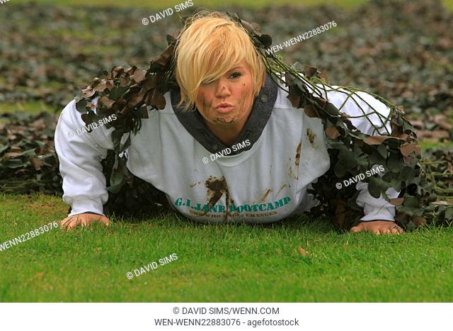 Kerry Katona works out at GI Jane Boot Camp. Featuring: Kerry Katona Where: Sittingbourne, United Kingdom When: 16 Sep 2015 Credit: David Sims/WENN