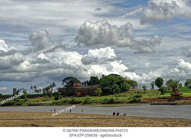 Kurundwad ghat on Krishna river, kolhapur, Maharashtra, India, Asia