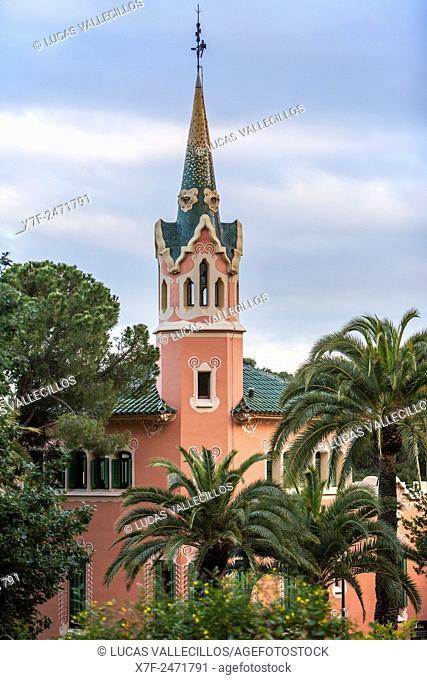Gaudi House Museum - Casa Museu Gaudi, Park Guell, Barcelona, Catalonia, Spain