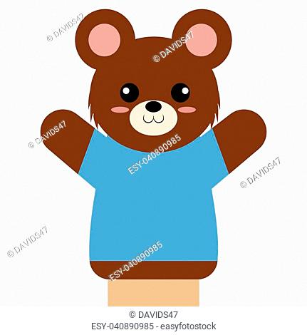 abstract cute puppet animal on a white background