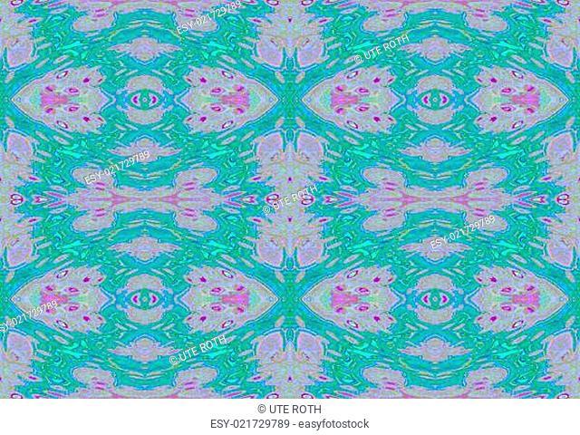 Grafik Hintergrund grüne Ornamente endlos auf violetten Farbtönen