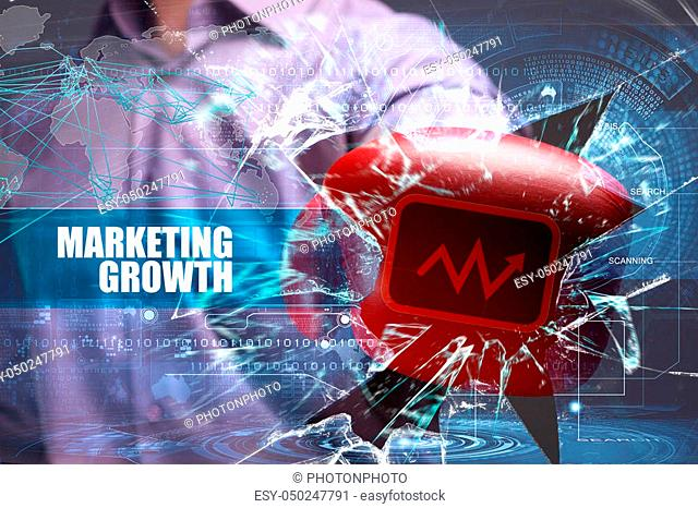 Business, Technology, Internet and marketing. Marketing growth