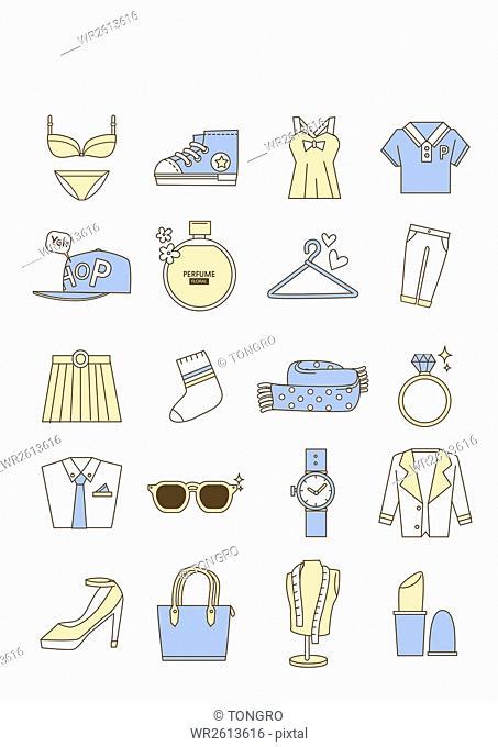 Icons of fashion items