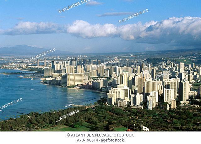Waikiki, Honolulu county. Hawaii. USA