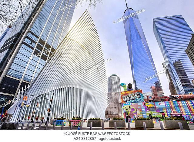 USA, New York City, Manhattan, Downtown, World Trade Center Station