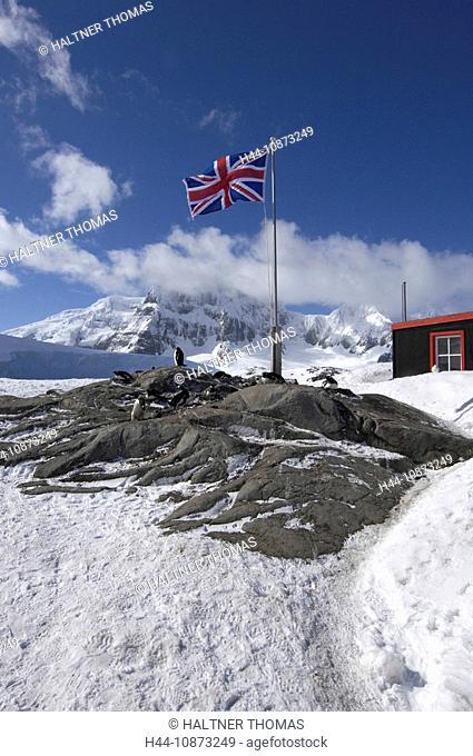Antarctica, Antarctic, port Lockroy, British Antarctica Territory, station flag, flag, banner, research