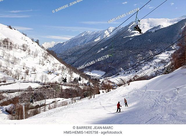 France, Hautes Pyrenenes, iau Engaly ski resort
