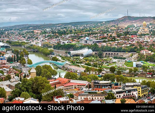 View of Tbilisi from Narikala fortress, Georgia
