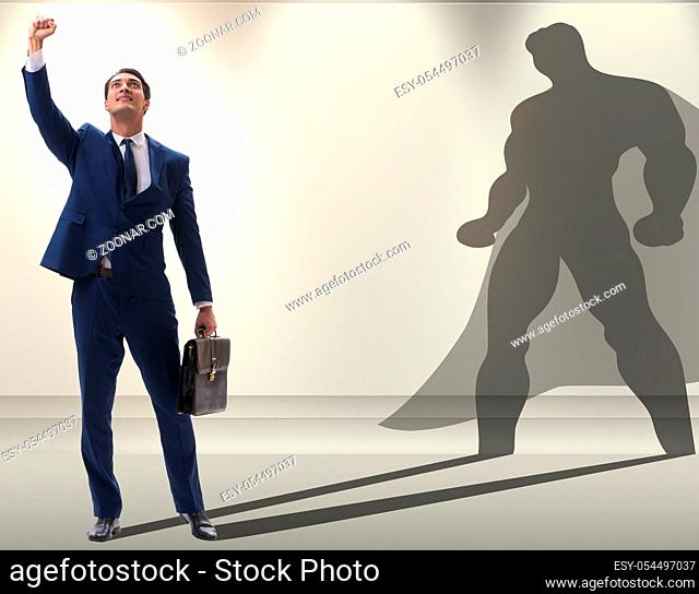 The businessman with aspiration of becoming superhero