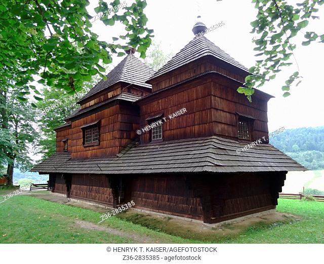 Greek-orthodox church (Cerkiew) in Smolnik, Bieszczady, National Park south-east Poland, Europe