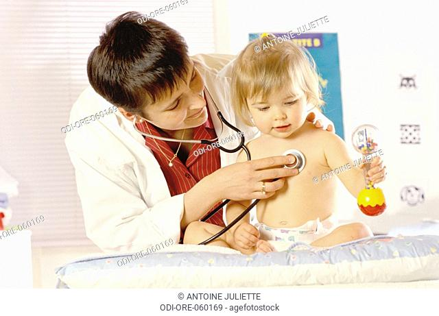 Child visiting paediatrician