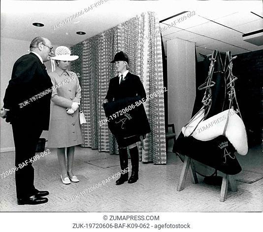 Jun. 06, 1972 - Princess Anne Is Presented With Monogrammed Riding Tack: Photo Shows Susan Johns- Powell, a 20-year-old horsewoman from Bonvilston, Glamorgan