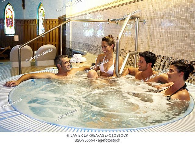 Jacuzzi, spa-relais. Lierganes hotel and spa, Cantabria, Spain