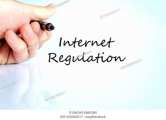 Internet regulation text concept isolated over white background