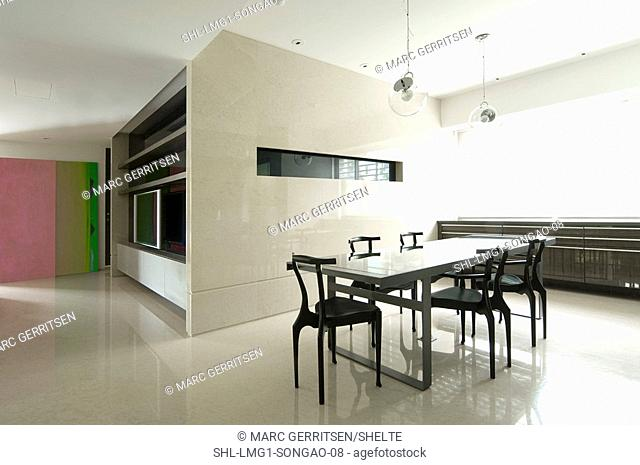 Modern dining room and dining table