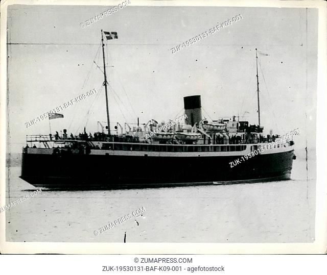 Jan. 31, 1953 - 31-1-53 180 in sinking ship told ?¢'Ǩ?ìTake to the boats?¢'Ǩ¬ù ?¢'Ǩ'Äú Radio flashes from the British Railways steamer, Princess Victoria