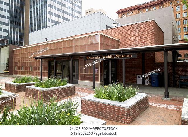 Benjamin Franklin museum in franklin court Philadelphia USA