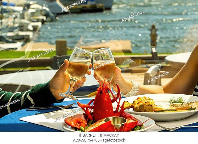 Couple dining, Boat Shop steak & Seafood Restaurant, Alberton, Prince Edward Island, Canada