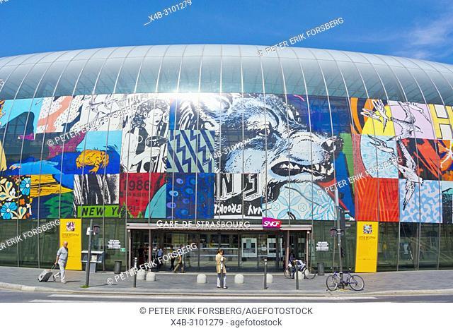 Gare de Strasbourg, main railway station, Strasbourg, Alsace, France