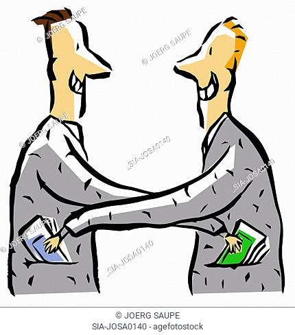 Two men bribing