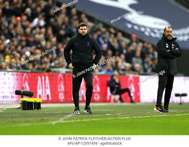 2018 EPL Premier League Football Tottenham Hotspur v Wolverhampton Wanderers Dec 29th. 29th December 2018, Wembley Stadium