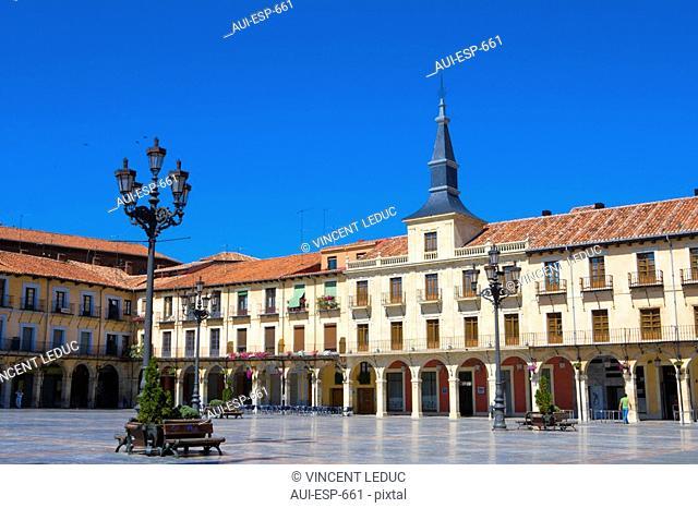 Spain - Castile and Leon - Leon - Plaza Mayor