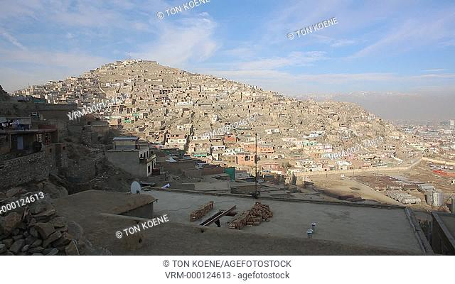 view on the city of Kabul, Afghanistan