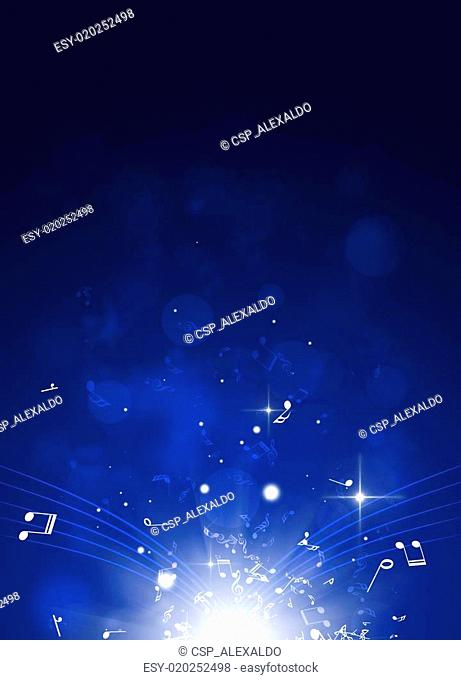 Classic Music Blue Background