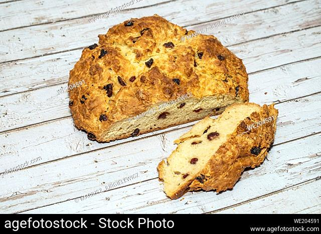 """Soda bread is a variety of quick bread traditionally made in a variety of cuisines in which sodium bicarbonate (otherwise known as """"""""baking soda"""""""""""