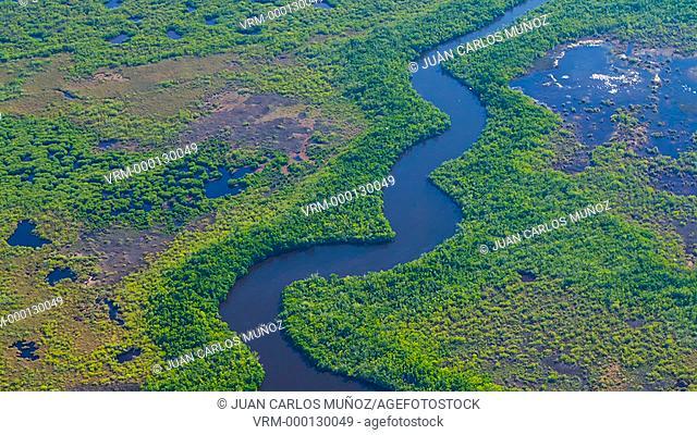 Aerial view, Everglades National Park, Florida, USA, AMERICA