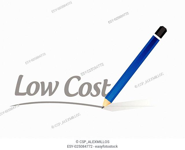 low cost message sign illustration